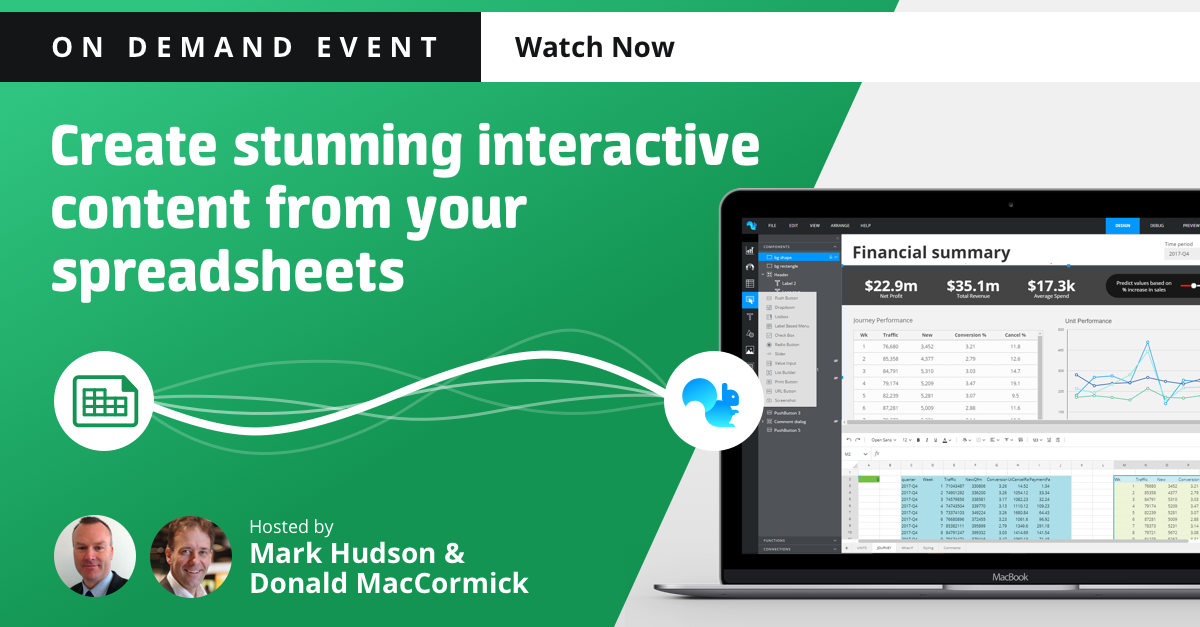 Squirrel365 event: Create interactive content from your spreadsheets