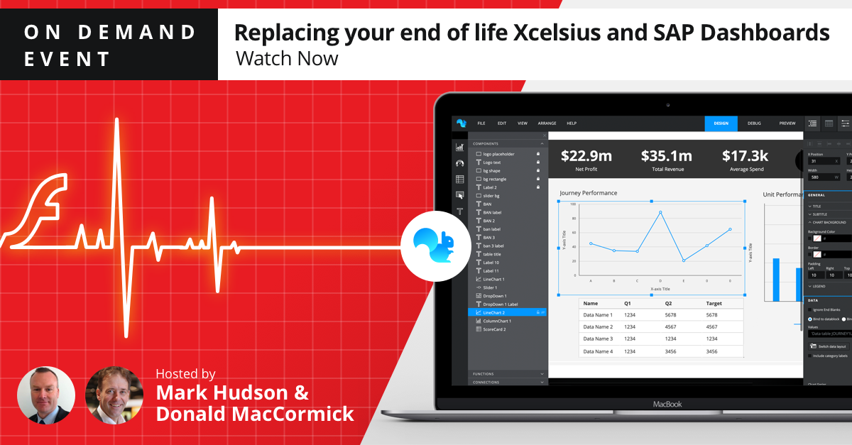 Replacing end of life Xcelsius and SAP Dashboards